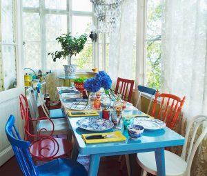 sala de jantar eclética
