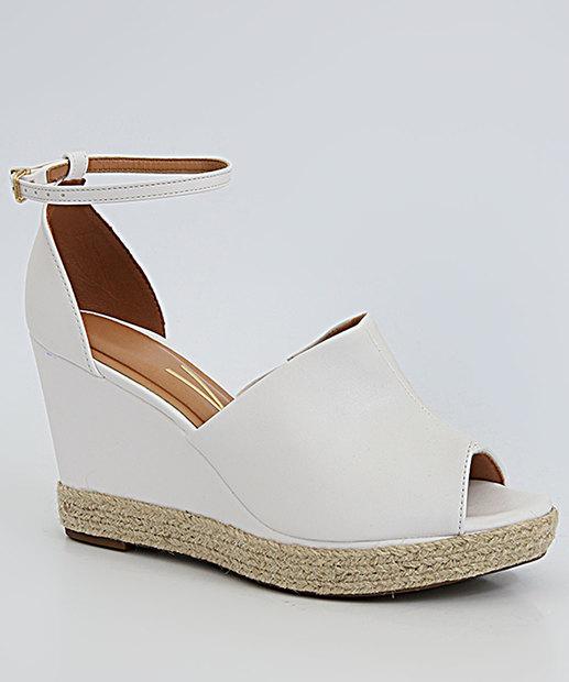 Sapato de plataforma branco