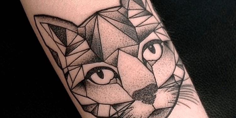 tatuagem geográfica no braço