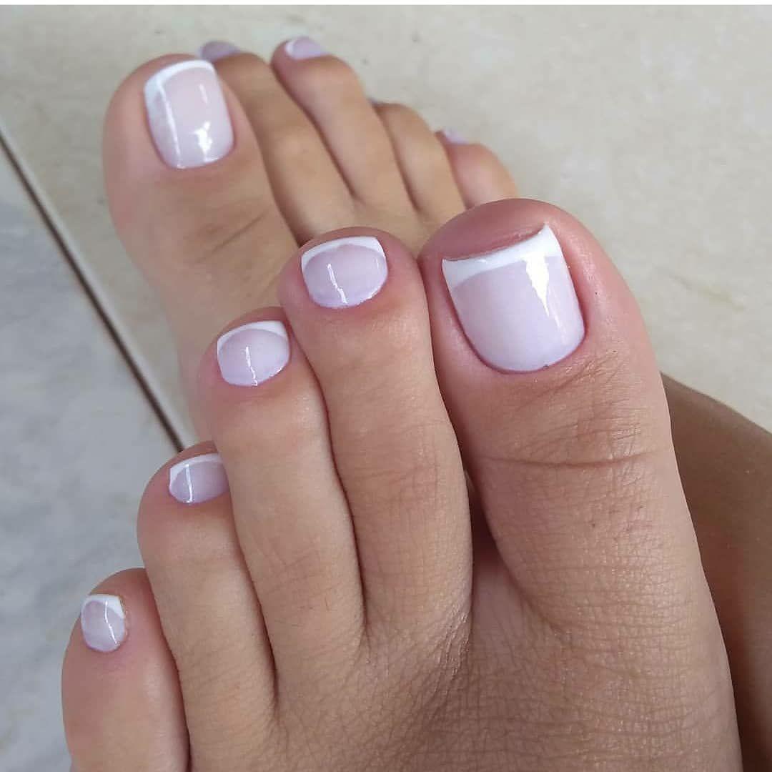 Unha do pé decorada simples