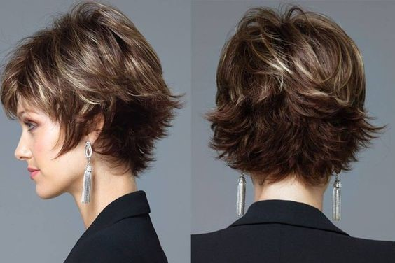 Corte de cabelo repicado curto