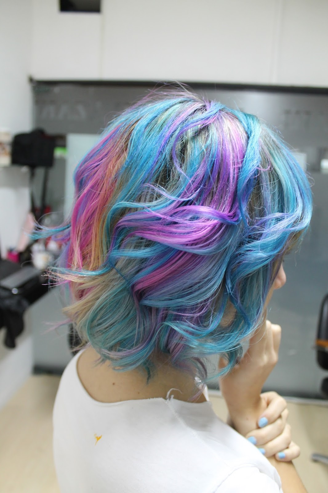 Cabelo repicado colorido