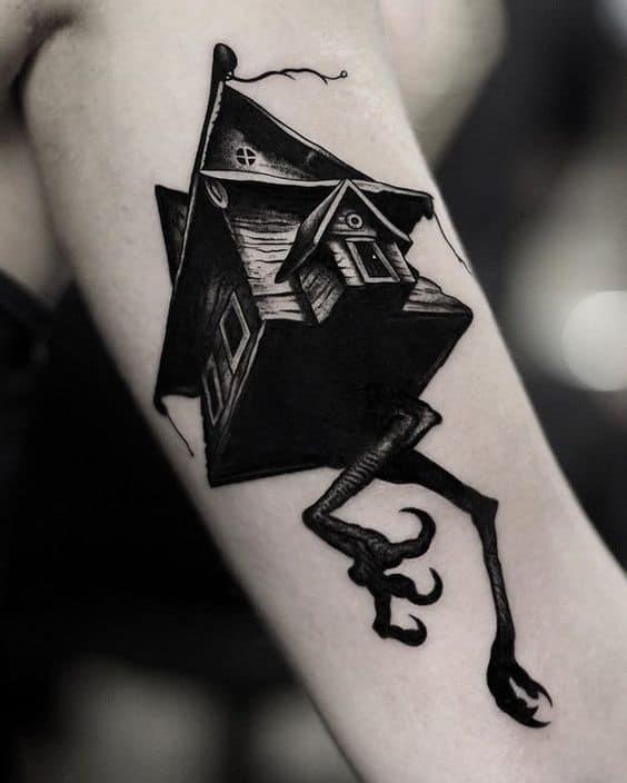 Tatuagem masculina blackwork 2021