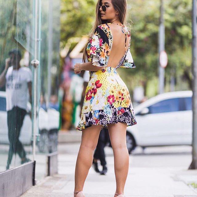 Vestido estampado florido 2021