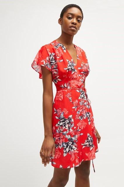 vestido estampado curto 2021