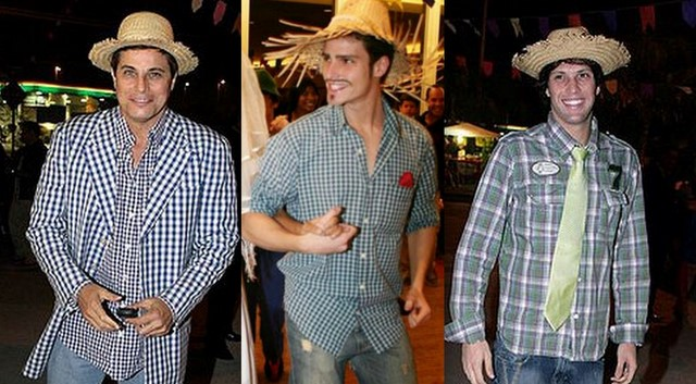Camisa xadrez masculina festa junina