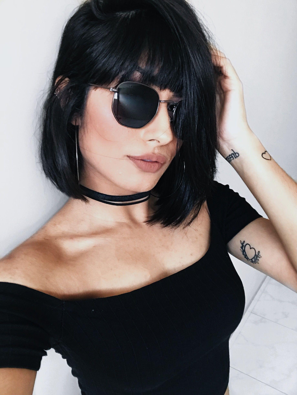 Chanel de bico com franja