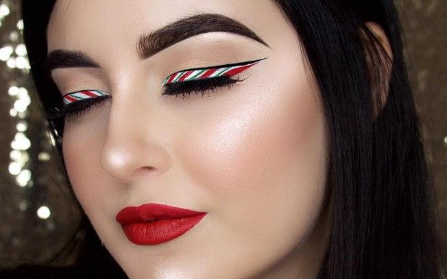 Maquiagem com delineador ano novo 2021