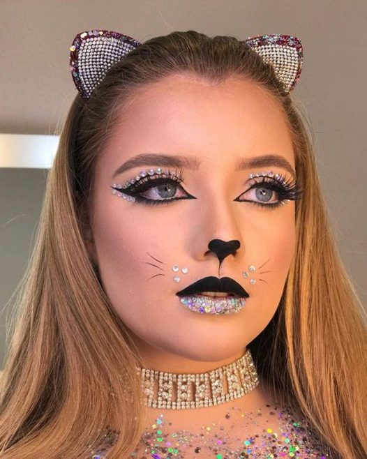 maquiagem de gatinho para carnaval