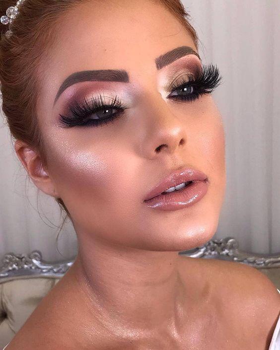 ideia de maquiagem para casamento 2021