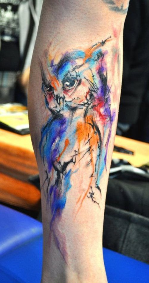 Tatuagens masculinas no braço de aquarela 2021