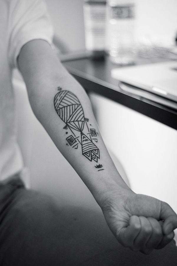 Tatuagens masculinas no braço geométricas 2021