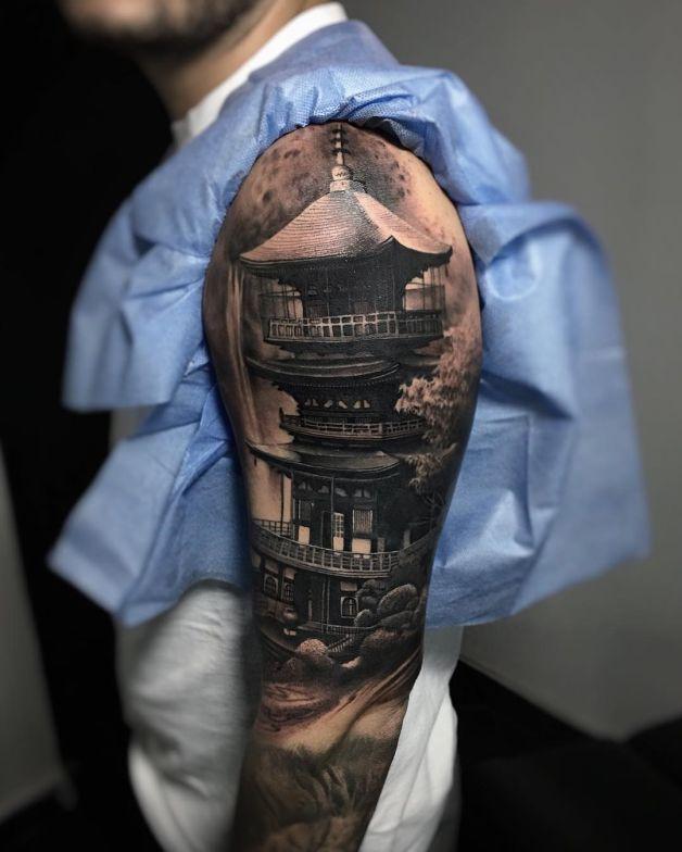 Tatuagens masculinas no braço orientais 2021