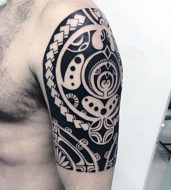 Tatuagens masculinas no braço tribais 2021