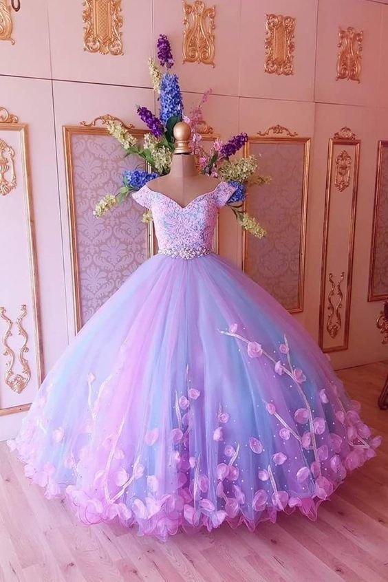 Vestido de princesa cor de rosa 2021