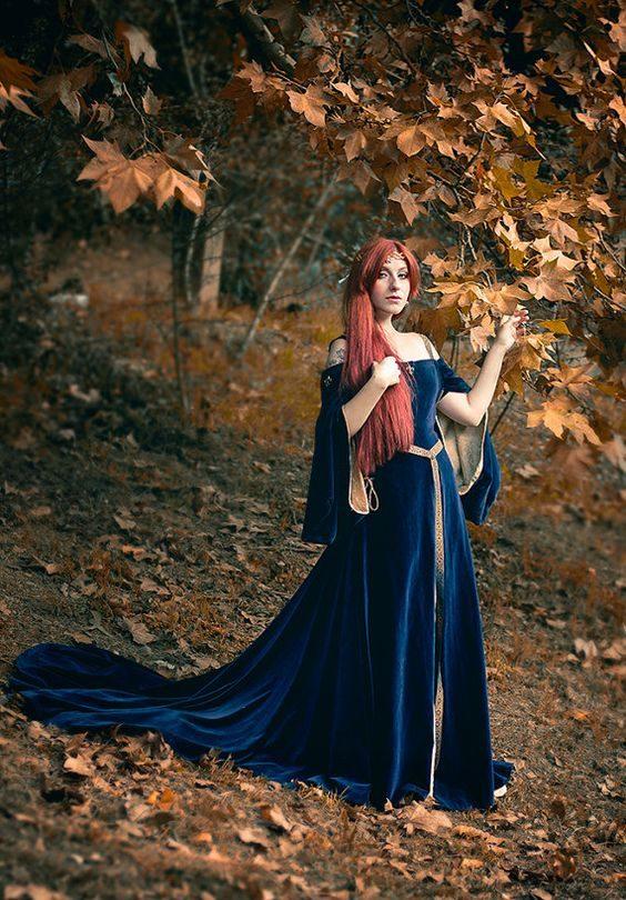 Vestido de princesa medieval 2021