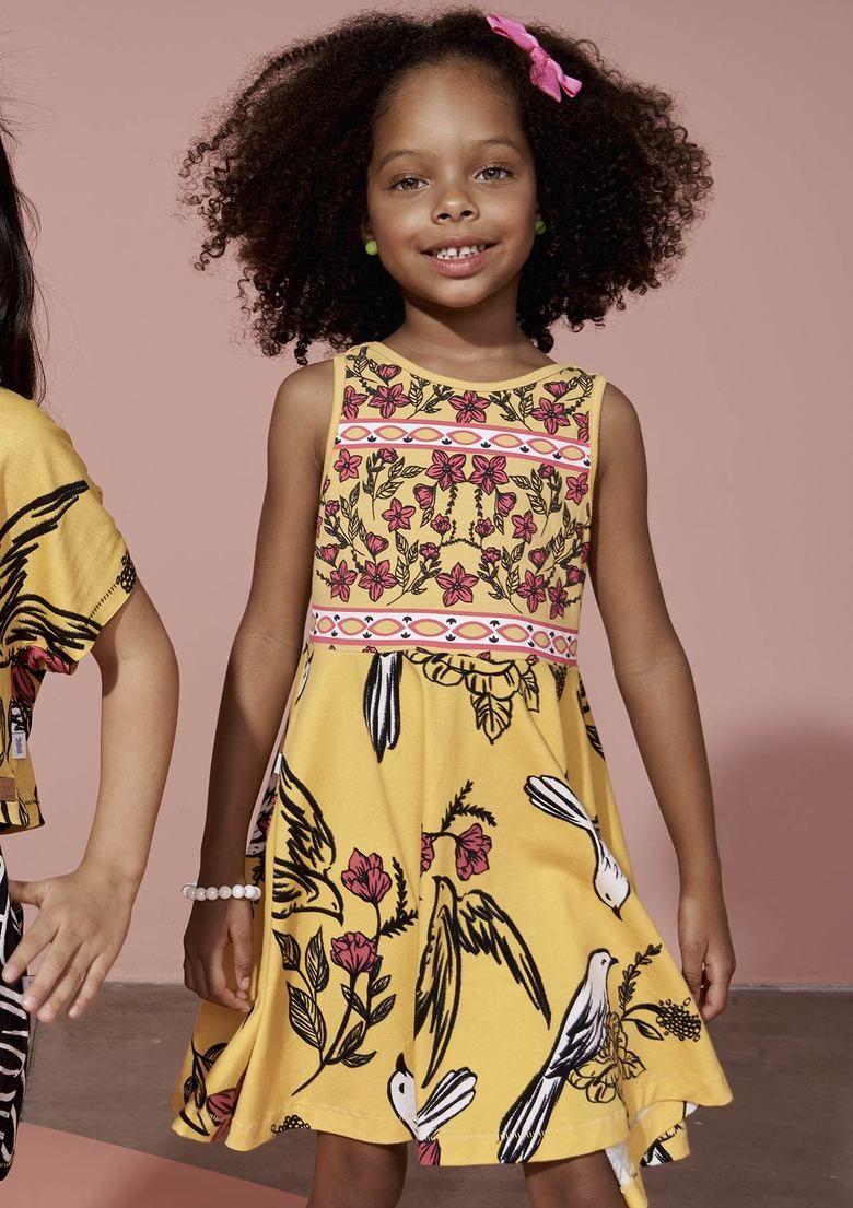Vestido infantil de malha e algodão 2021