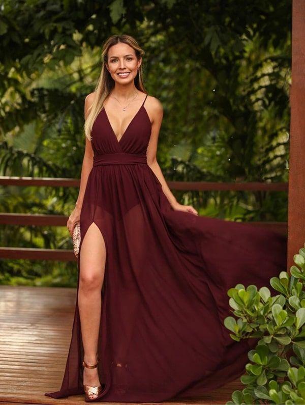 Vestido marsala 2021