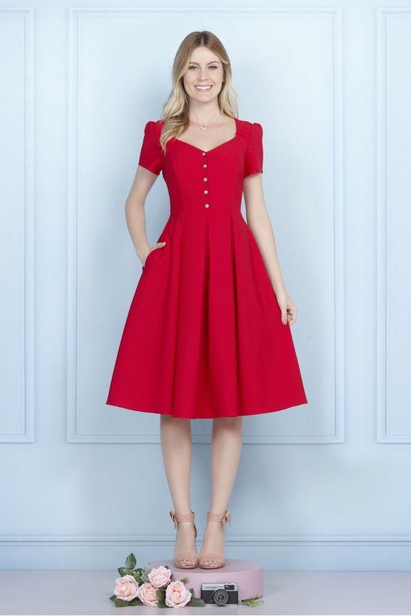 Vestido bonequinha vermelho