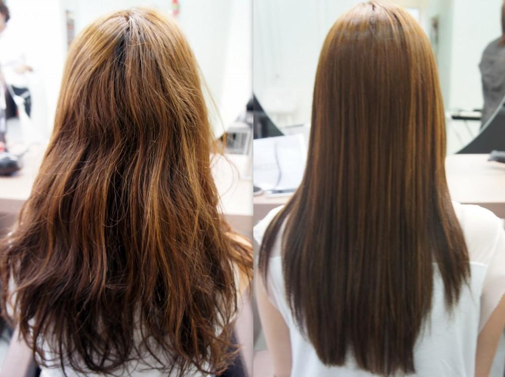 antes e depois da cauterização capilar