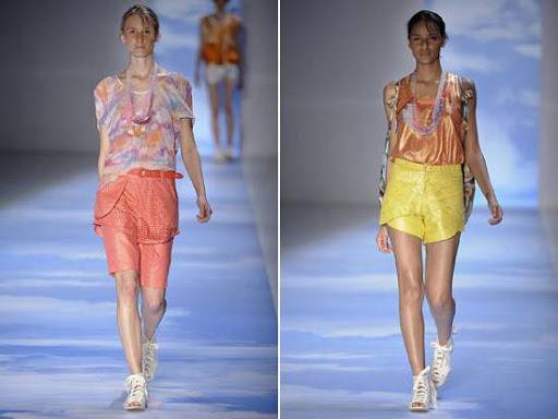 bermudas coloridas moda verão
