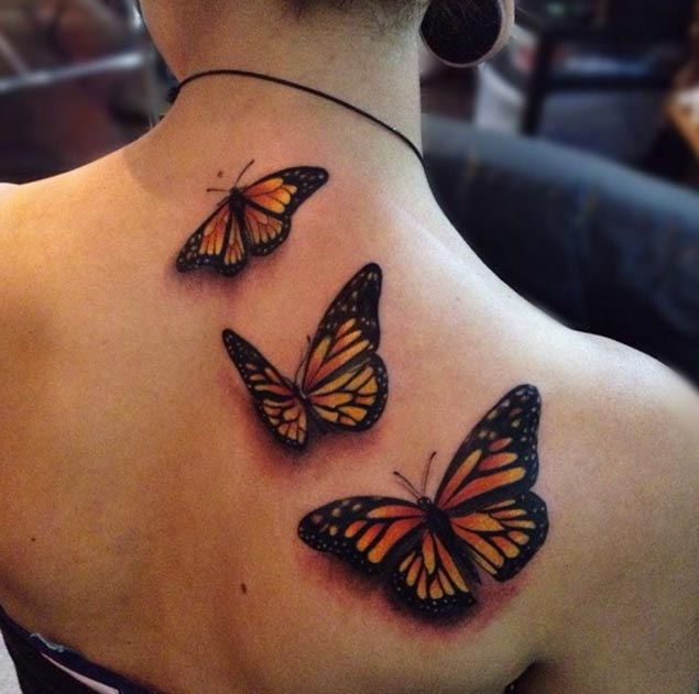 buttlerfly back tattoo