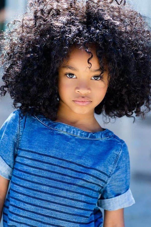 cabelo cacheado menina black power