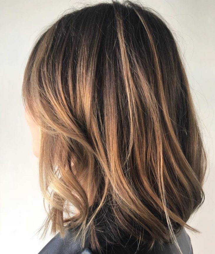 cabelo curto com luzes