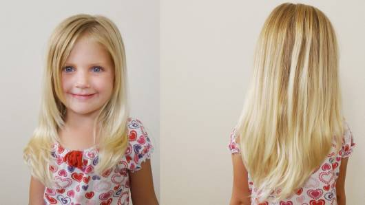 cabelo longo em v em menina