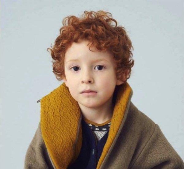 cabelo ruivo cacheado em menino