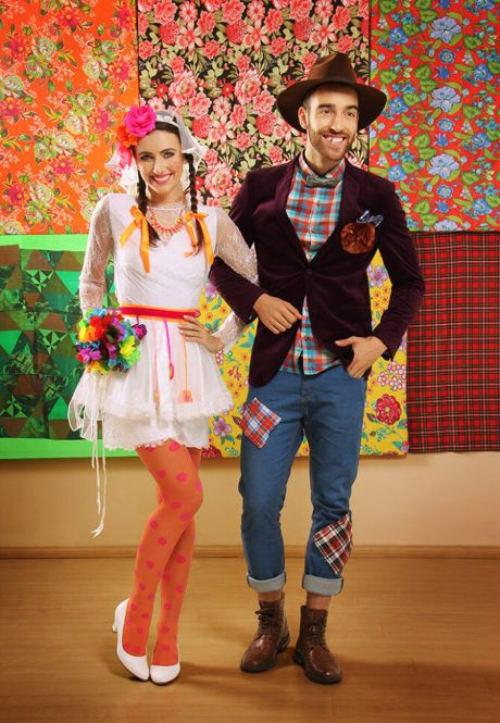 calça remendada masculina festa junina