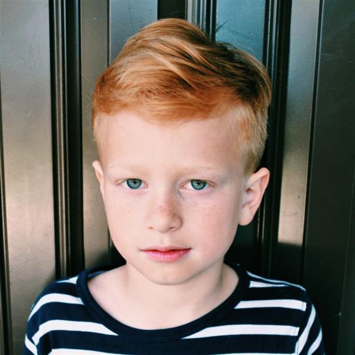 corte de cabelo infantil liso