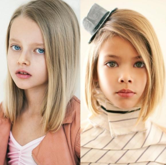 corte de cabelo liso para meninas