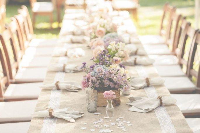 decoração de casamento minimalista