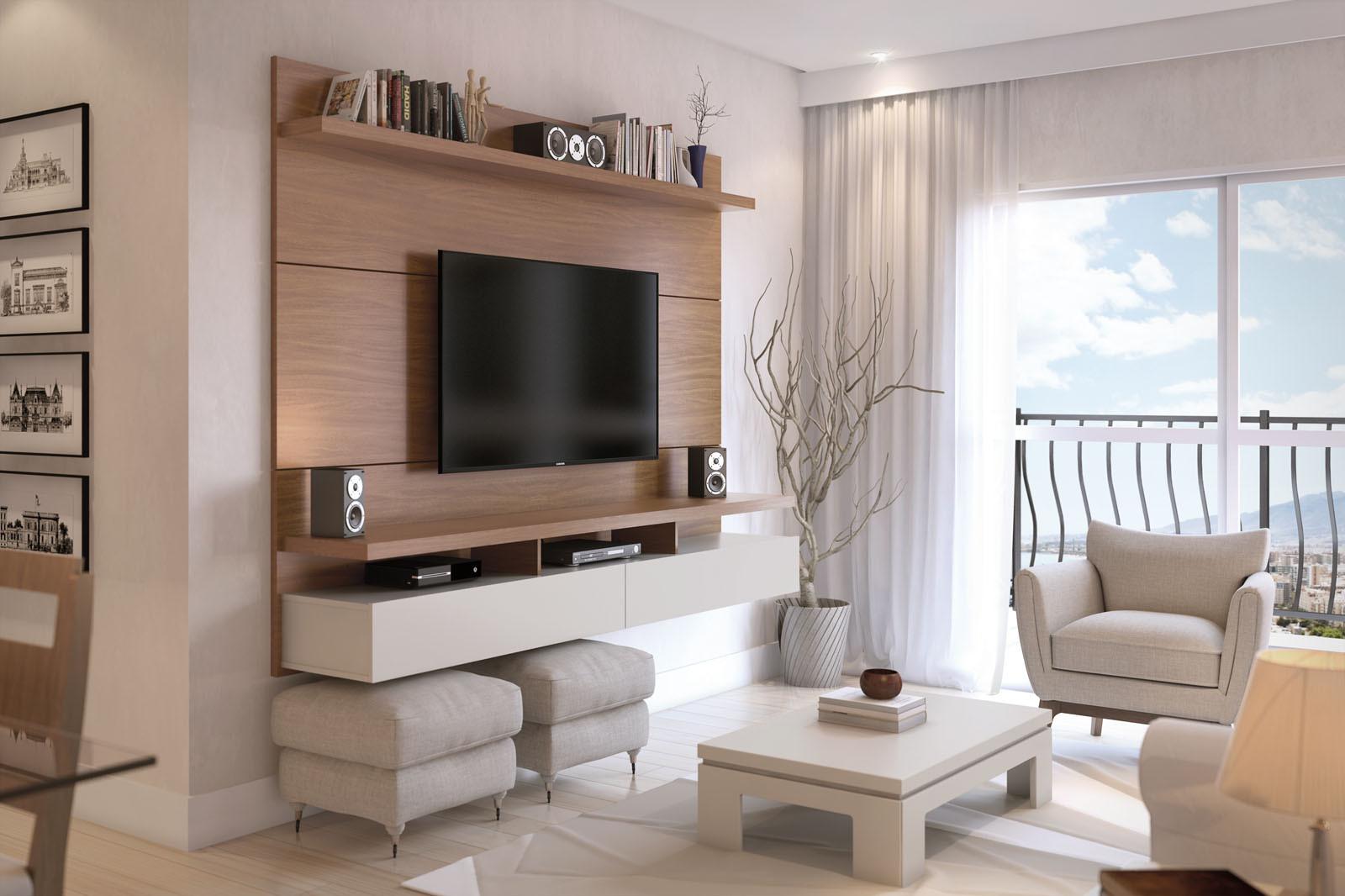 decoração sala pequena off white