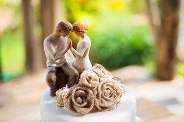 esculturas para topo do bolo de casamento
