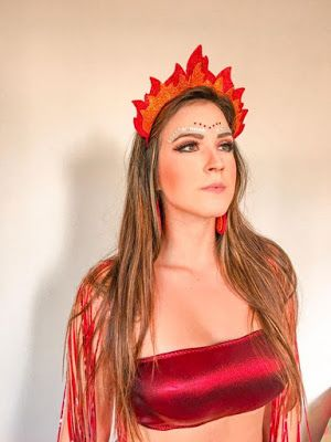 fantasia de fogo para carnaval