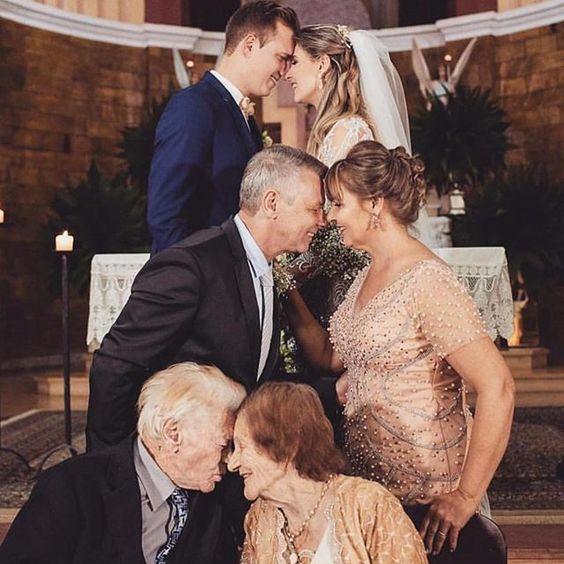 foto para casamento com gerações