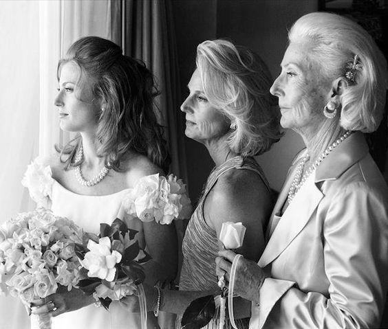foto para casamento com mãe e avó