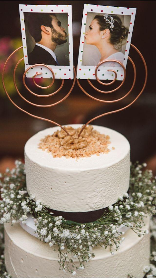 fotos no topo do bolo de casamento 2020