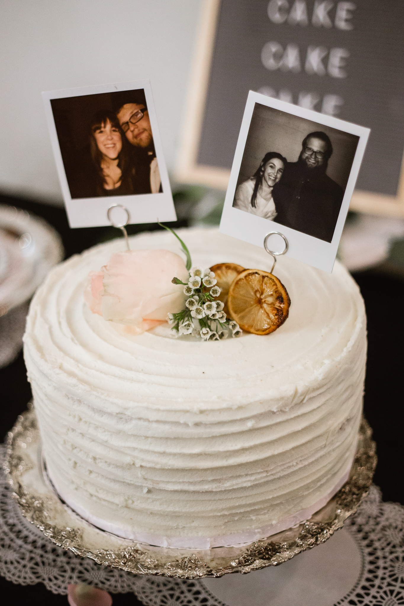 fotos no topo do bolo de casamento