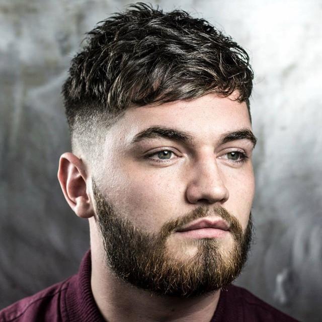 franja rosto redondo masculino 2021
