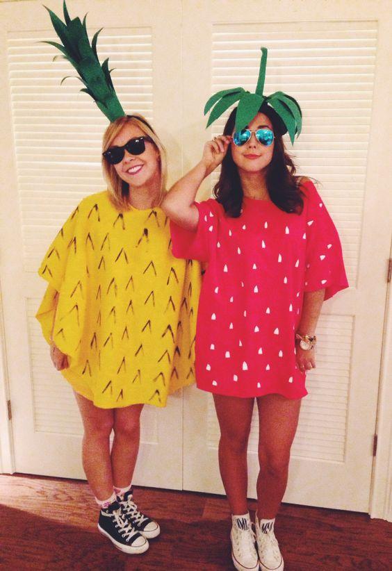 frutas como fantasias de carnaval