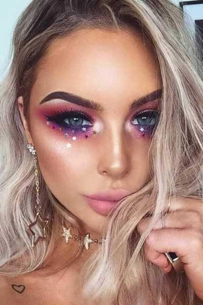glitter de estrela maquiagem carnaval