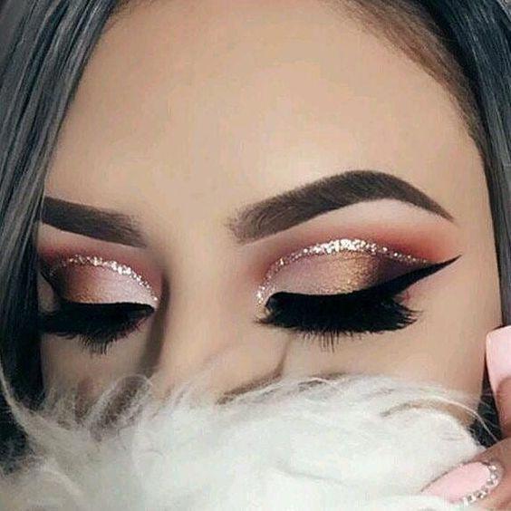 glitter maquiagem nude 1