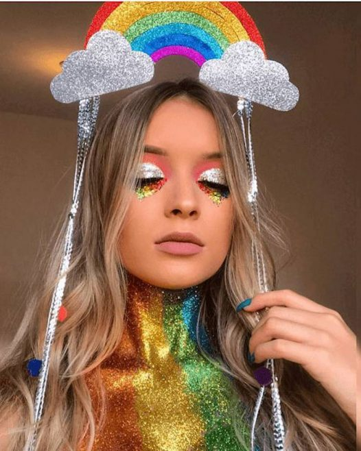 maquiagem de arco iris carnaval