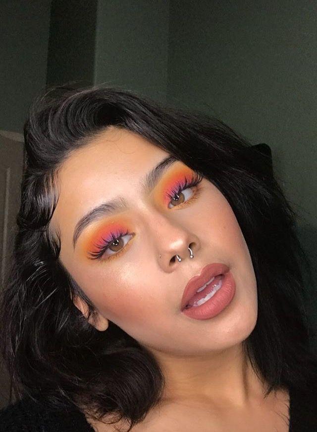 maquiagem com sombra laranja