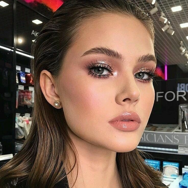 maquiagem estilo gloss