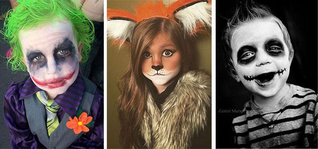 maquiagem para halloween em crianças