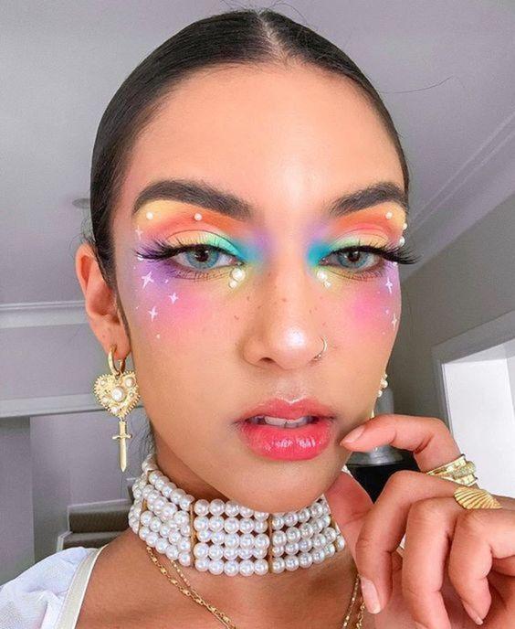 maquiagem tendência carnaval